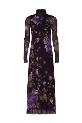 Plum Floral Dress by Fuzzi
