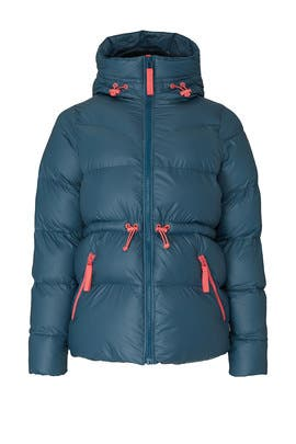 Blue Puffer Coat by Hunter