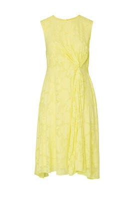 Yellow Pleated Midi Dress by Jason Wu x ELOQUII