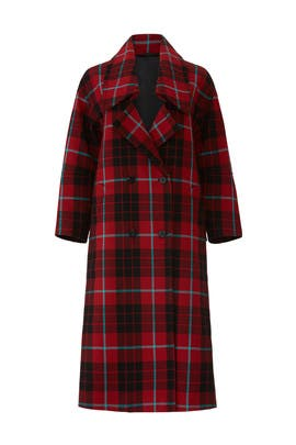 Plaid Tartan Coat by MARYLING