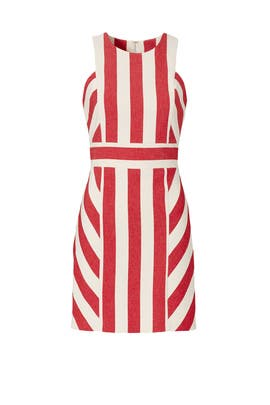 Red Maya Stripe Dress by Milly