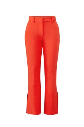 Red Flared Pants by MSGM