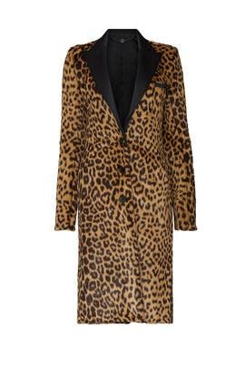 Leopard Printed Tailored Coat by Paco Rabanne