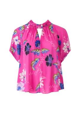 Pink Floral Kimono Top by Rachel Rachel Roy