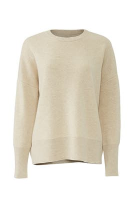 Cream Crewneck Pullover by Theory