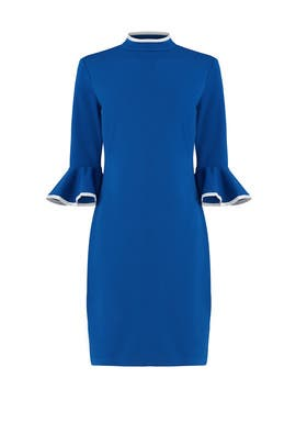 Tipped Mock Neck Dress by Alexia Admor