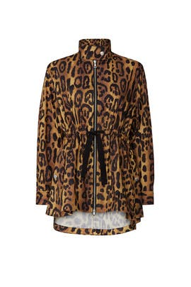 Leopard Anorak Jacket by Adam Lippes Collective