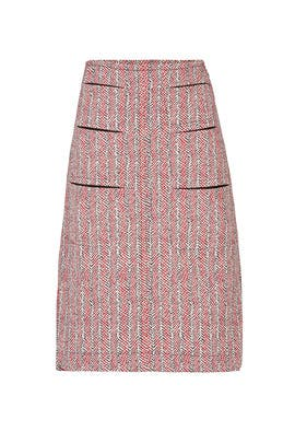 Rose Tweed Skirt by Carven