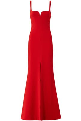 Red Constance Gown by LIKELY