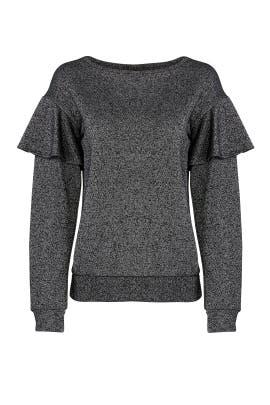 Terry Ruffle Sweatshirt by Sanctuary