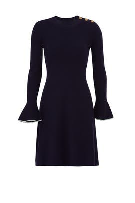 Flare Sleeve Sweater Dress by Tory Burch