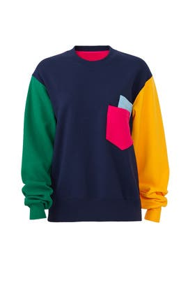 Multi Colorblock Sweatshirt by Cedric Charlier