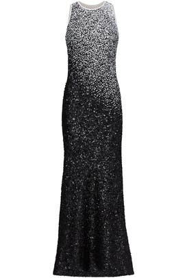 Ombre Sequin Gown by Carmen Marc Valvo