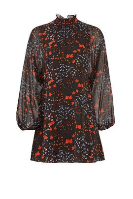 Floral Mock Neck Dress by Giamba