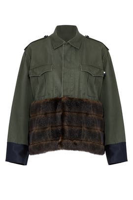 Faux Fur Trim Field Jacket by Harvey Faircloth