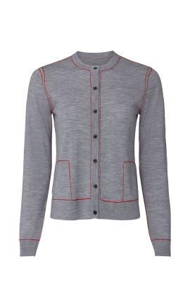 Grey Wool Cardigan by Jason Wu