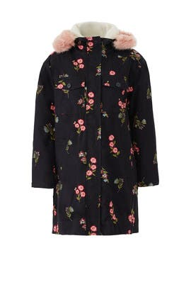 Embroidered Twill Coat by kate spade new york