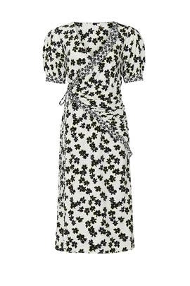 Floral Wrap Midi Dress by Love, Whit by Whitney Port