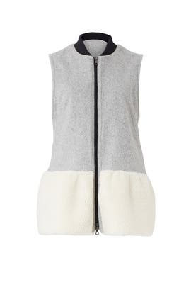 Grey Leslie Vest by Marissa Webb