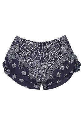 Navy Bandana Knot Shorts by Paradised