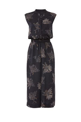 Woodblock Floral Jumpsuit by VINCE.
