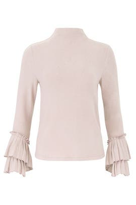 Linda Pleated Cuff Cozy Top by B Collection by Bobeau