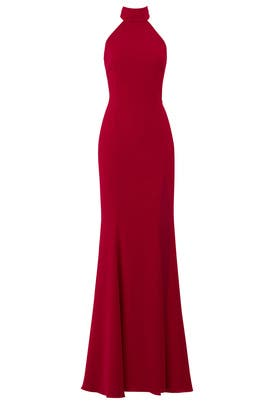 Burgundy Cameo Gown by Jay Godfrey