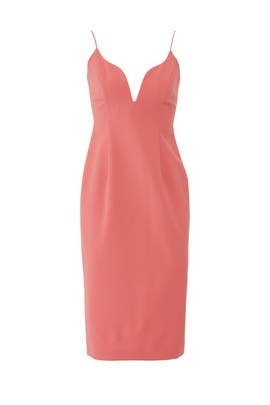 Pink Deep V-Neck Sheath by Jill Jill Stuart