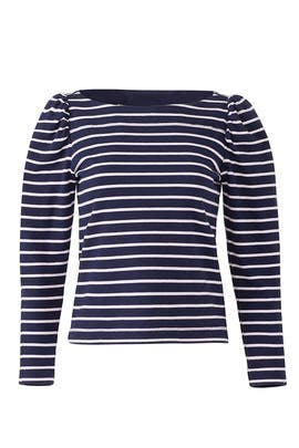 Striped Long Sleeve Tee by La Vie Rebecca Taylor