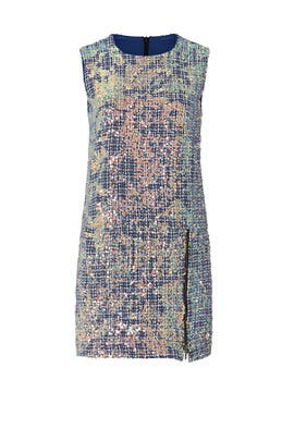 Sequin Tweed Shift Dress by Nicole Miller