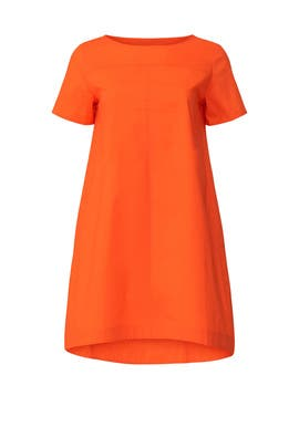 Orange T-Shirt Dress by Peter Som Collective
