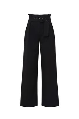 Black Wide Leg Pleated Pants by Sweet Baby Jamie