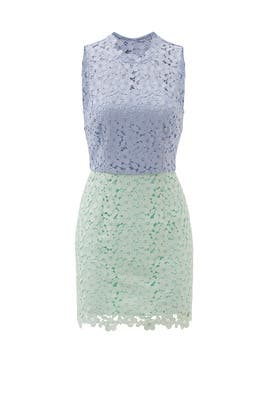 Periwinkle Pistachio Block Up Sheath by Cynthia Rowley