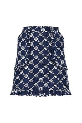 Lattice Ruffle Skirt by Draper James