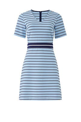 Blue V-Neck Striped Dress by Draper James