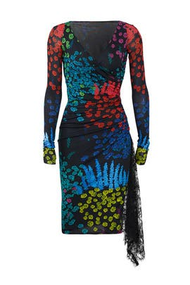 Winter Garden Nero Dress by Emanuel Ungaro