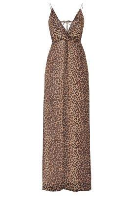 Leopard Print Tie Back Jumpsuit by Jonathan Simkhai