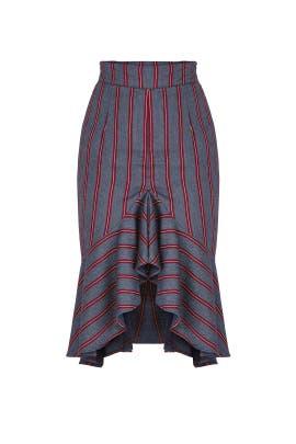 Asymmetric Midi Skirt by Moon River