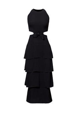 Black Tiered Ruffle Dress by Proenza Schouler