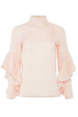 Blush Ruffle Sleeve Top by Slate & Willow