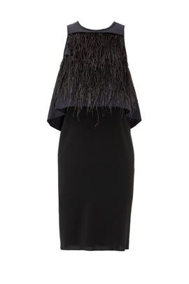 Feather Layered Dress by Tibi