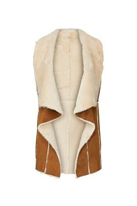 Faux Fur Tash Vest by cupcakes and cashmere