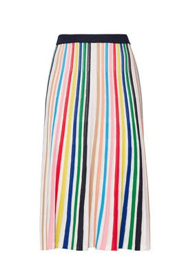 Striped Flare Skirt by J.Crew