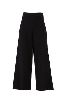 Black Wide Leg Culottes by Michael Stars