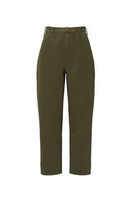 Olive Military Smiths High Waist Jeans by One Teaspoon
