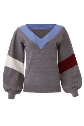 Grey Maxwell Sweater by Parker