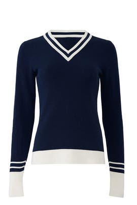 Blue Varsity Striped Sweater by Slate & Willow