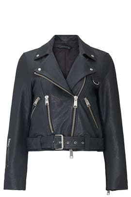 Blue Gidley Leather Jacket by AllSaints