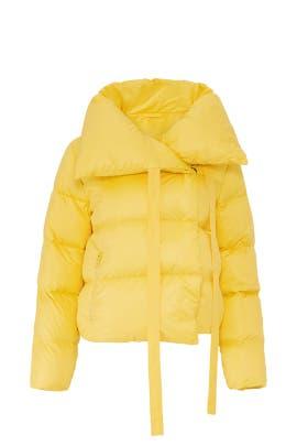Yellow Puffa Jacket by Bacon