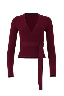 Cabernet Knit Wrap Top by Diane von Furstenberg
